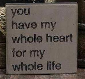 Whole Heart Wood Block