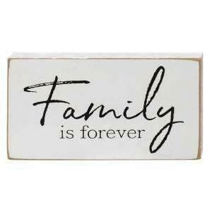 Family Forever Wood Block