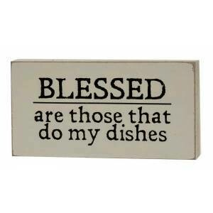 Dishes Wood Block Sign