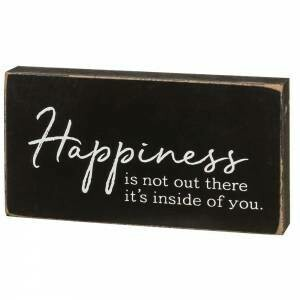 Happiness Wood Block