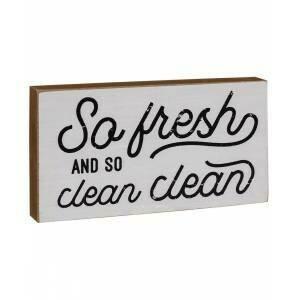 So Fresh Wood Block Sign