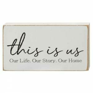 This is Us Wood Block