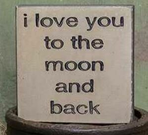 Moon & Back Wood Block
