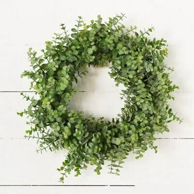 """18"""" Green Eucalyptus Wreath"""