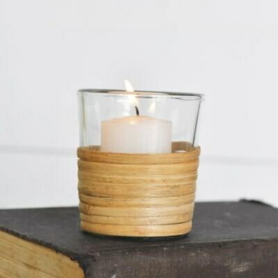 Sm Glass Holder w Bamboo