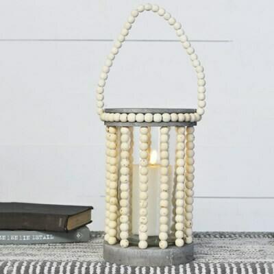 Beaded Cylinder Lantern