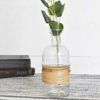 Lg Bamboo Wrapped Vase