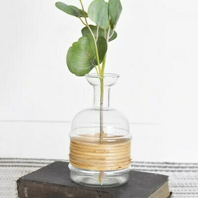 Sm Bamboo Wrapped Vase