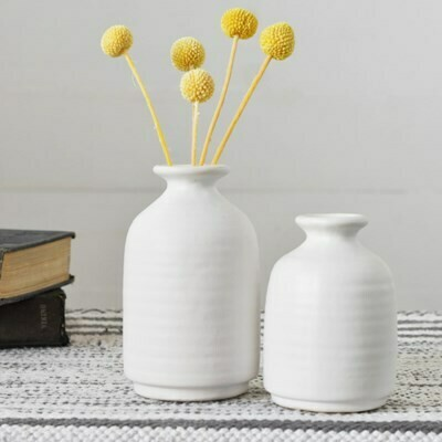 Lg Matte White Vase