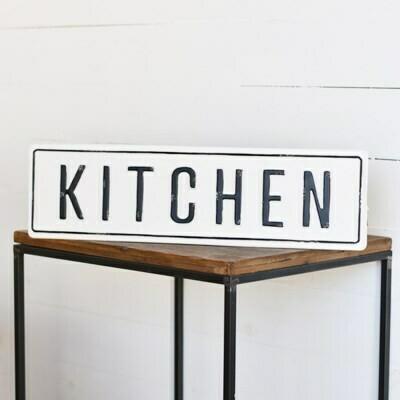 Distressed Metal Kitchen Sign