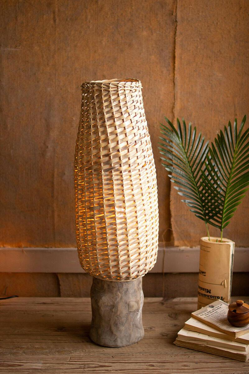 Gray Willow Lamp