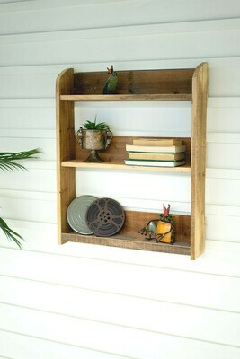 Recycled Wood 3 Tiered Shelf