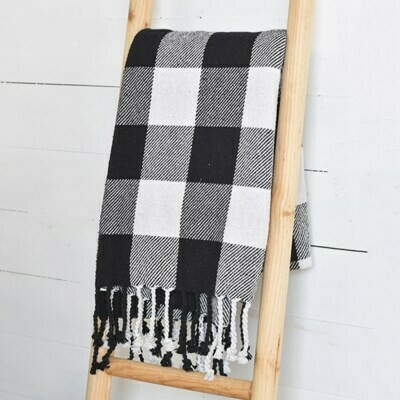 B&W Checkered Throw