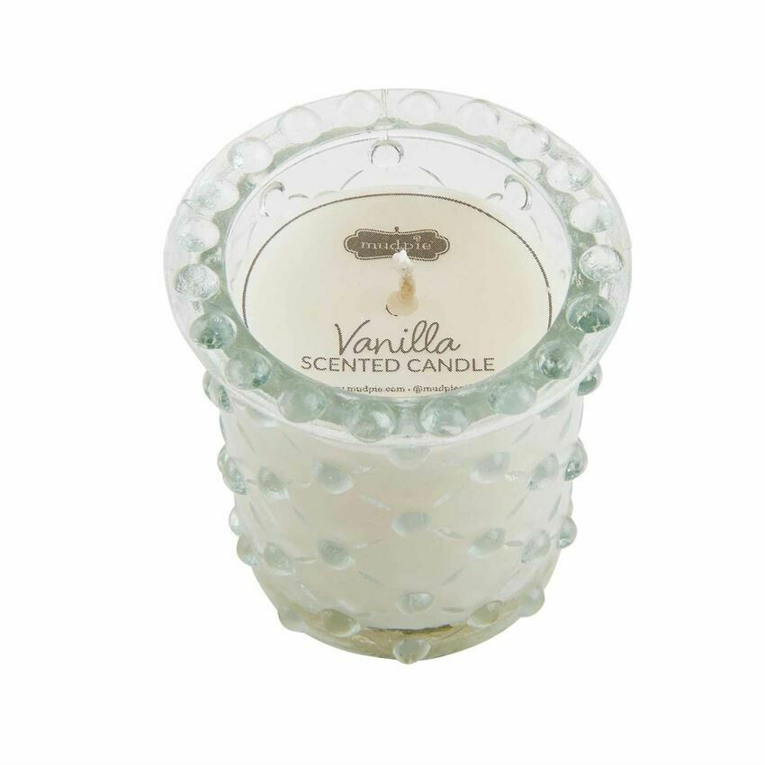 Criss Cross Beaded Candle