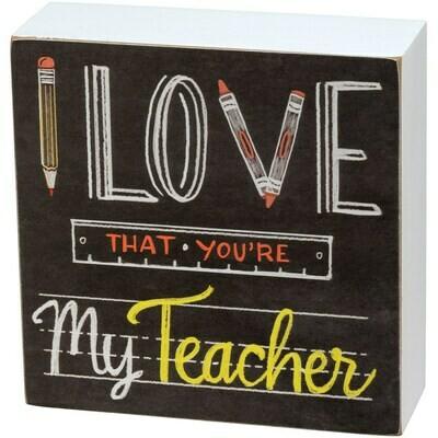 My Teacher Box Sign