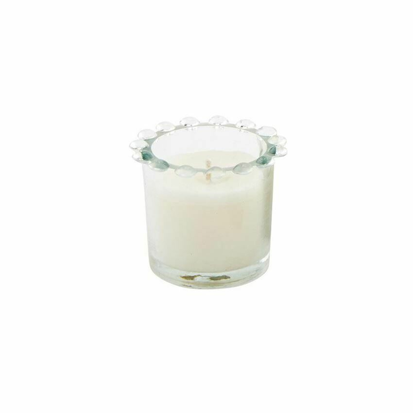 Small Glass Beaded Candle