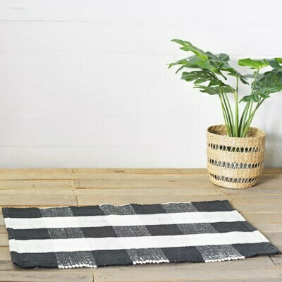 B&W Plaid Rug