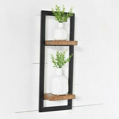Wood & Metal Wall Shelf