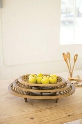 Lg Oval Bamboo Tray