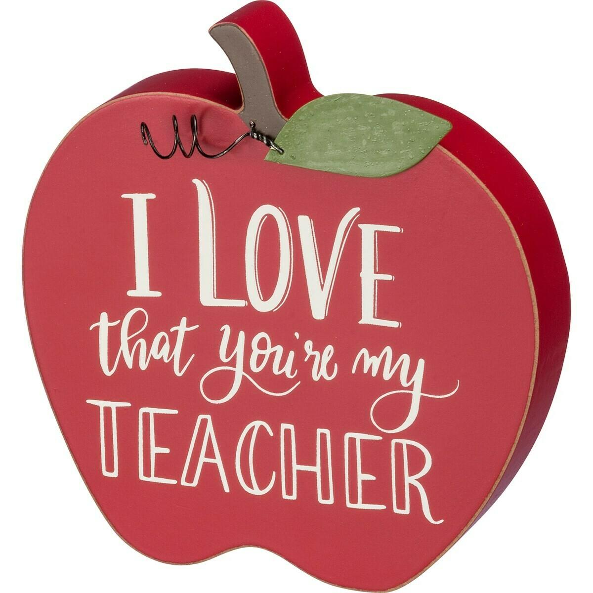 Teacher Apple Sitter