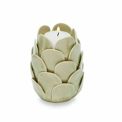 Sage Ceramic Votive Holder