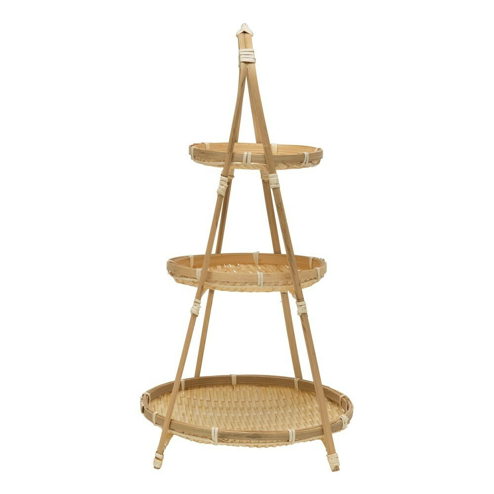 Bamboo Tiered Tray