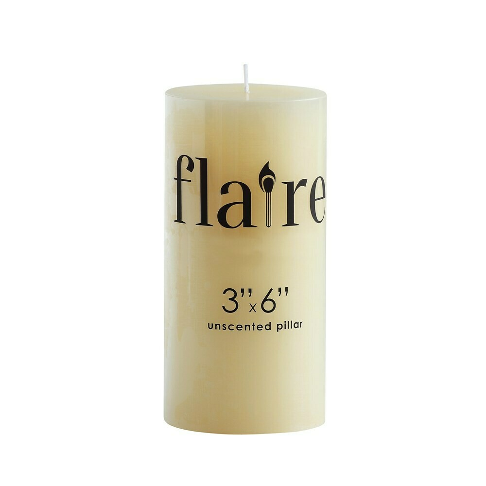 """6"""" Unscented Pillar Candle"""