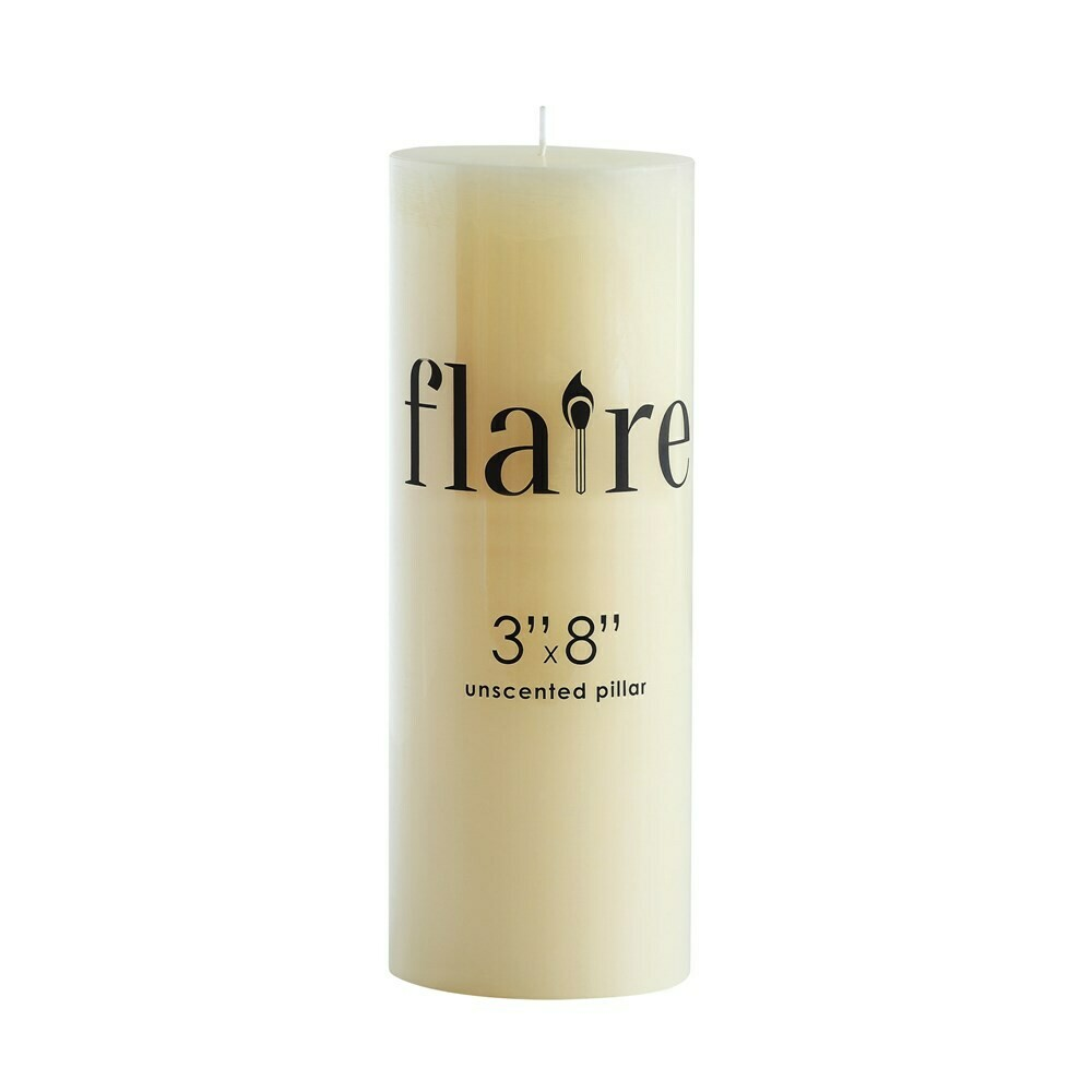 """8"""" Unscented Pillar Candle"""