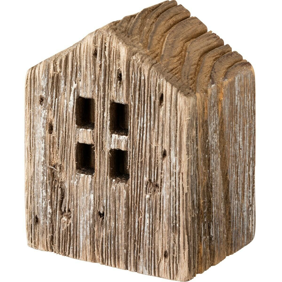 Sm Brown Rustic Wood House