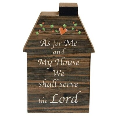 Serve the Lord Wooden House