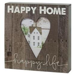 Happy Home Box Sign