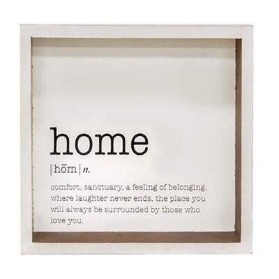 Home Definition Shadow Box