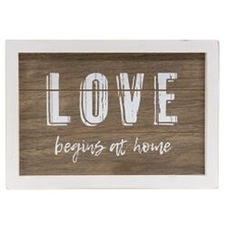 Love Begins Framed Sign
