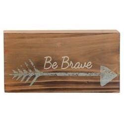 Be Brave Arrow Wood Block