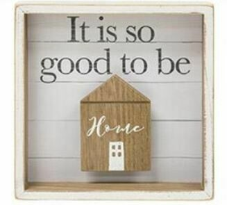 So Good to be Home Shadow Box Sign