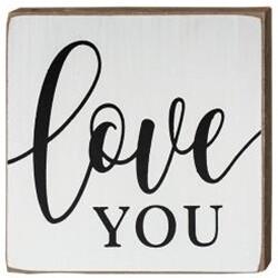 Love You Wood Block
