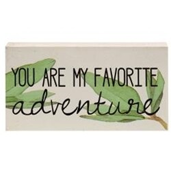 Favorite Adventure Wood Block Sign