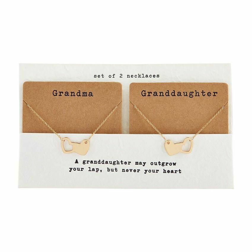 Grandma Granddaughter Necklace Set