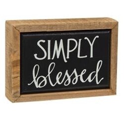Simply Blessed Mini Box Sign