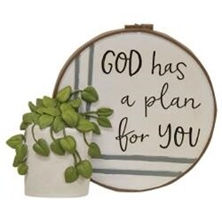 God Has a Plan for You Plaque
