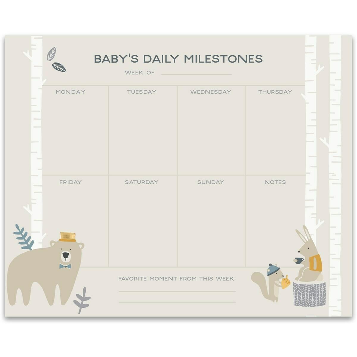 Baby's Milestones Notepad