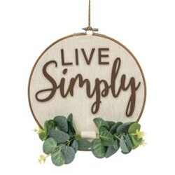 Live Simply Greenery Wall Hanger