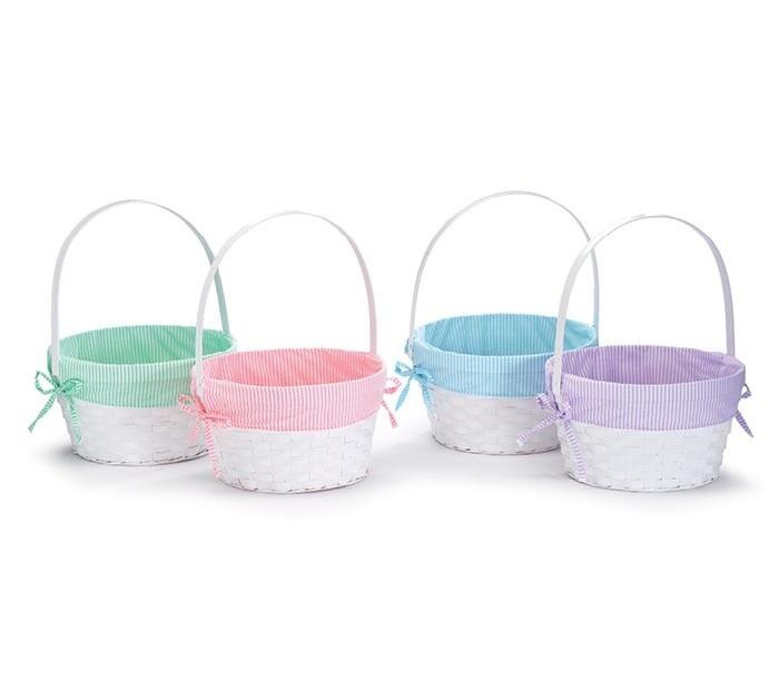 Easter Basket with Pink Liner