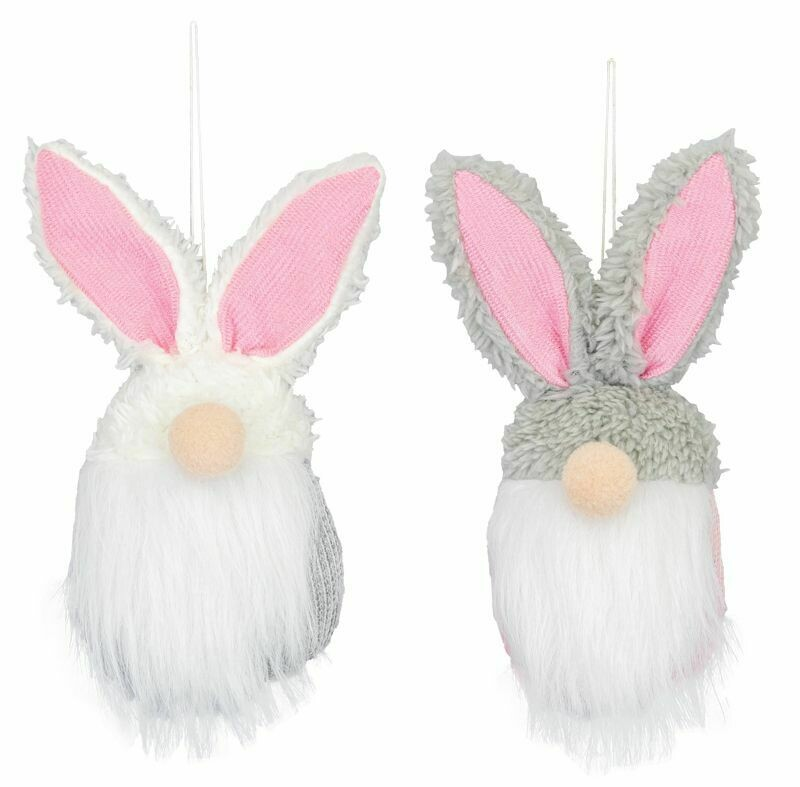 Pink Bunny Gnome Ornament