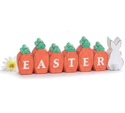 Easter Carrot Shelf Sitter