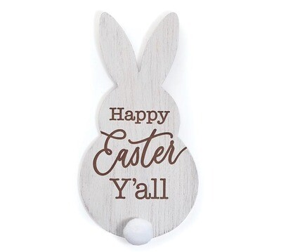 Happy Easter Y'all Bunny Wall Hanging