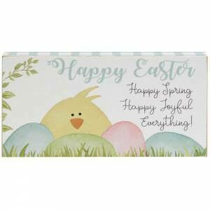 Happy Easter Small Block Sign