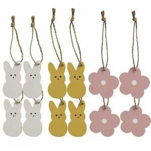 Bunny & Flower Mini Ornament Set