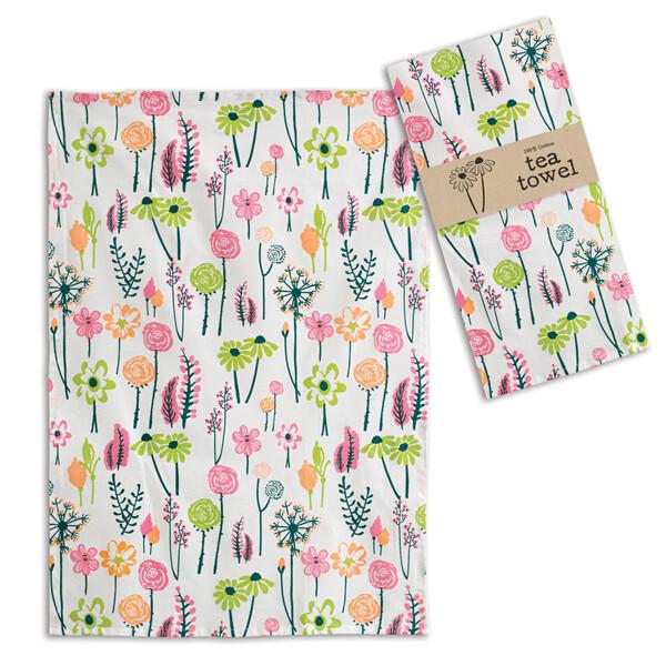 Floral Tea Towel