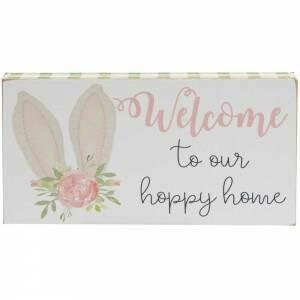 Hoppy Home Block Sign